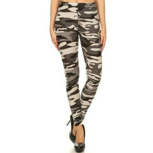 New Mix Charcoal Camouflage Leggings Size 4X